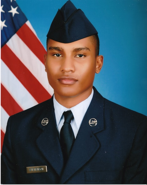 Airman Darrius Stevenson, currently receiving his Cyber Space Operation training at Keesler Air Force Base, Mississippi, graduated from Air Force Basic Military Training at Lackland Air Force Base on Dec. 9, 2016. Airman Stevenson is the son of Lt. Col. Bonnie Stevenson, current 49th Medical Operations Commander at Holloman Air Force Base, New Mexico. (Photo courtesy of Lt. Col. Bonnie Stevenson)