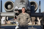 Chief Master Sgt. Jason Hughes, former 23d Aircraft Maintenance Squadron chief enlisted manager, poses in front of an A-10C Thunderbolt II, Feb. 10, 2017, at Moody Air Force Base, Ga. Upon enlisting as an F-15 Strike Eagle crew chief in 1997, Hughes dedicated 20 years to servicing six airframes. Now, he will become the newest member of the U.S. Air Force Thunderbirds.