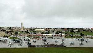 Exercise Cope North 17 participants on the Andersen Air Force Base, Guam flightline Feb. 15, 2017. The exercise includes 22 total flying units and more than 1,700 personnel from three countries and continues the growth of strong, interoperable relationships within the Indo-Asia-Pacific Region through integration of airborne and land-based command and control assets. (U.S. Air Force photo by Senior Airman Keith James)