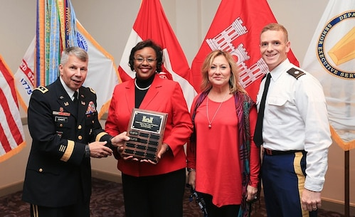 The Charleston District was awarded the USACE Small Business Award by Lt. Gen. Todd T. Semonite.
