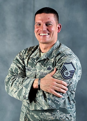 Master Sgt. Nicholas Whitney, 55th Security Forces Squadron, led a Fly Away Security Team (FAST) in Afghanistan from late 2015 to early 2016 that earned him the Air Force Outstanding Security Forces Senior Non-Commissioned Officer of the Year Award. Whitney credits his team from Afghanistan and Offutt AFB along with his wife for working with him to make this a reality. (U.S. Air Force photo by Zachary Hada)