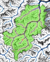 Map of watershed boundaries