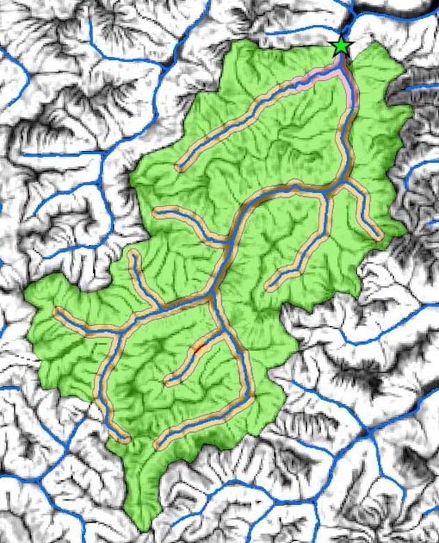 Map of watershed boundaries