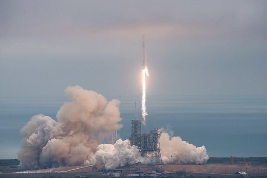 The 45th Space Wing supported SpaceX's successful launch of a Falcon 9 Dragon spacecraft headed to the International Space Station from Space Launch Complex 39A at NASA's Kennedy Space Center February 19 at 9:39 a.m. ET. (Courtesy photo/SpaceX)