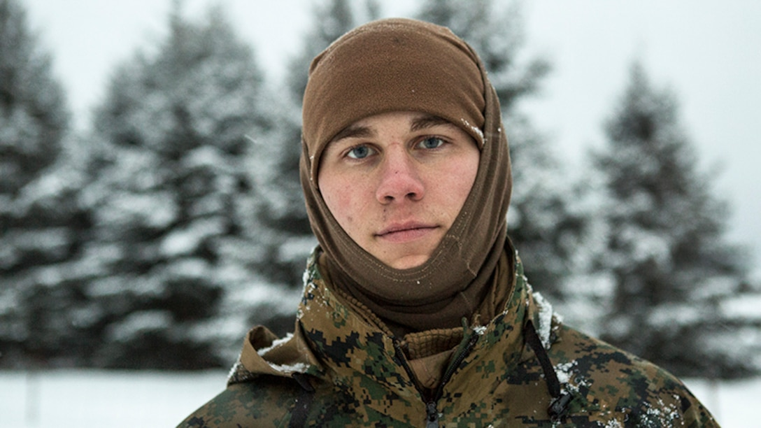 Marine Corps Lance Cpl. Scott Kesler poses for a photo