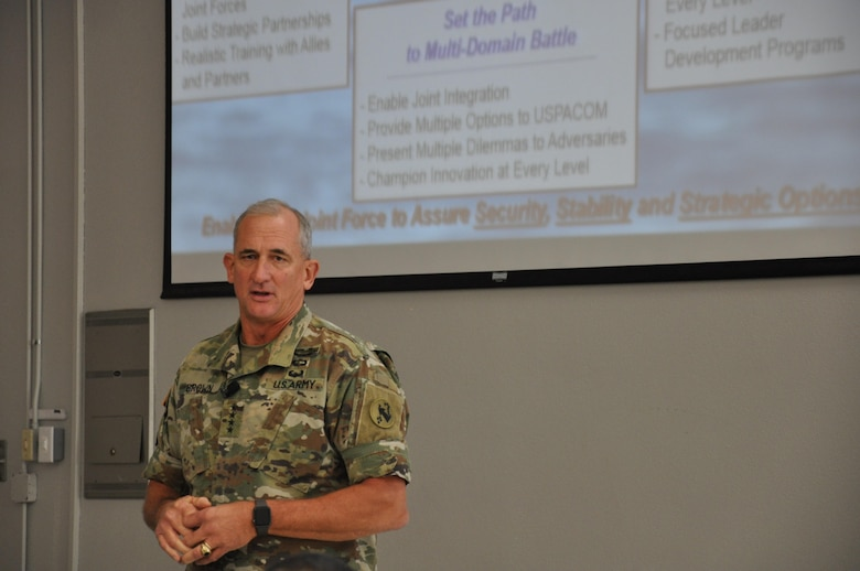 Gen. Robert B. Brown, Commanding General, U.S. Army Pacific (USARPAC) discusses the importance of readiness and integrating the 'Total Army' concept among all troops.