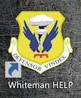 """A new 509th Bomb Wing icon has been added to every computer's desktop at Whiteman Air Force Base, Mo., Feb. 16, 2017. By clicking on the """"Whiteman HELP"""" icon, individuals can access a list of help agencies on and off base, and most items are hyperlinked to the agency's web page."""