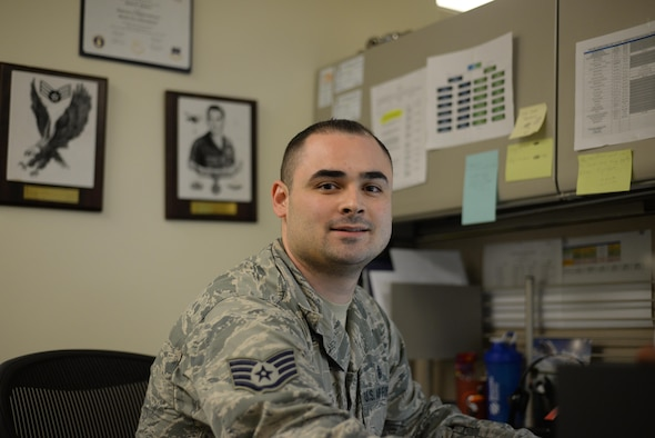Staff Sgt. Scott Powers, 9th Medical Group non-commissioned officer in charge of patient administration element, poses for a photo Feb. 21, 2017, at Beale Air Force Base, Calif. (U.S. Air Force photo/Airman 1st Class Tommy Wilbourn)