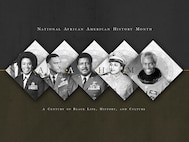 Each February we celebrate National African American History Month and honor African-American heritage and individuals who have made major societal impacts. (U.S. Air Force graphic/Brandon Deloach)