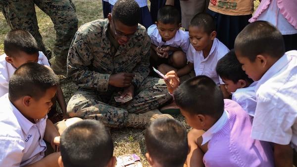 U S  Marines Engage with Thai community at Ban Khok Wat
