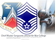 Air University welcomes the first four enlisted Airmen to attend the Air War College in-residence experience during the 2016-2017 academic year. Air War College prepares annually about 250 resident and 5,000 non-resident senior students from all U.S. military services, federal agencies, and 41 nations to lead in the strategic environment. (U.S. Air Force graphic by Senior Airman William Blankenship)
