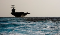 PACIFIC OCEAN (Jan. 18, 2017) Nimitz-class aircraft carrier USS Carl Vinson (CVN 70) transits the Pacific Ocean. Carl Vinson is on a regularly scheduled Western Pacific deployment with the Carl Vinson Carrier Strike Group as part of the U.S. Pacific Fleet-led initiative to extend the command and control functions of the U.S. 3rd Fleet in the Indo-Asia-Pacific region. (U.S. Navy photo by Petty Officer 2nd Class Nathan K. Serpico)