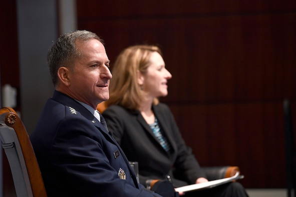 Air Force Chief of Staff Gen. David L. Goldfein speaks to a military strategy forum at a Center for Strategic and International Studies discussion on the imperatives of airpower and challenges for the next fight Feb. 23, 2017, in Washington, D.C. (U.S. Air Force photo/Scott M.Ash)