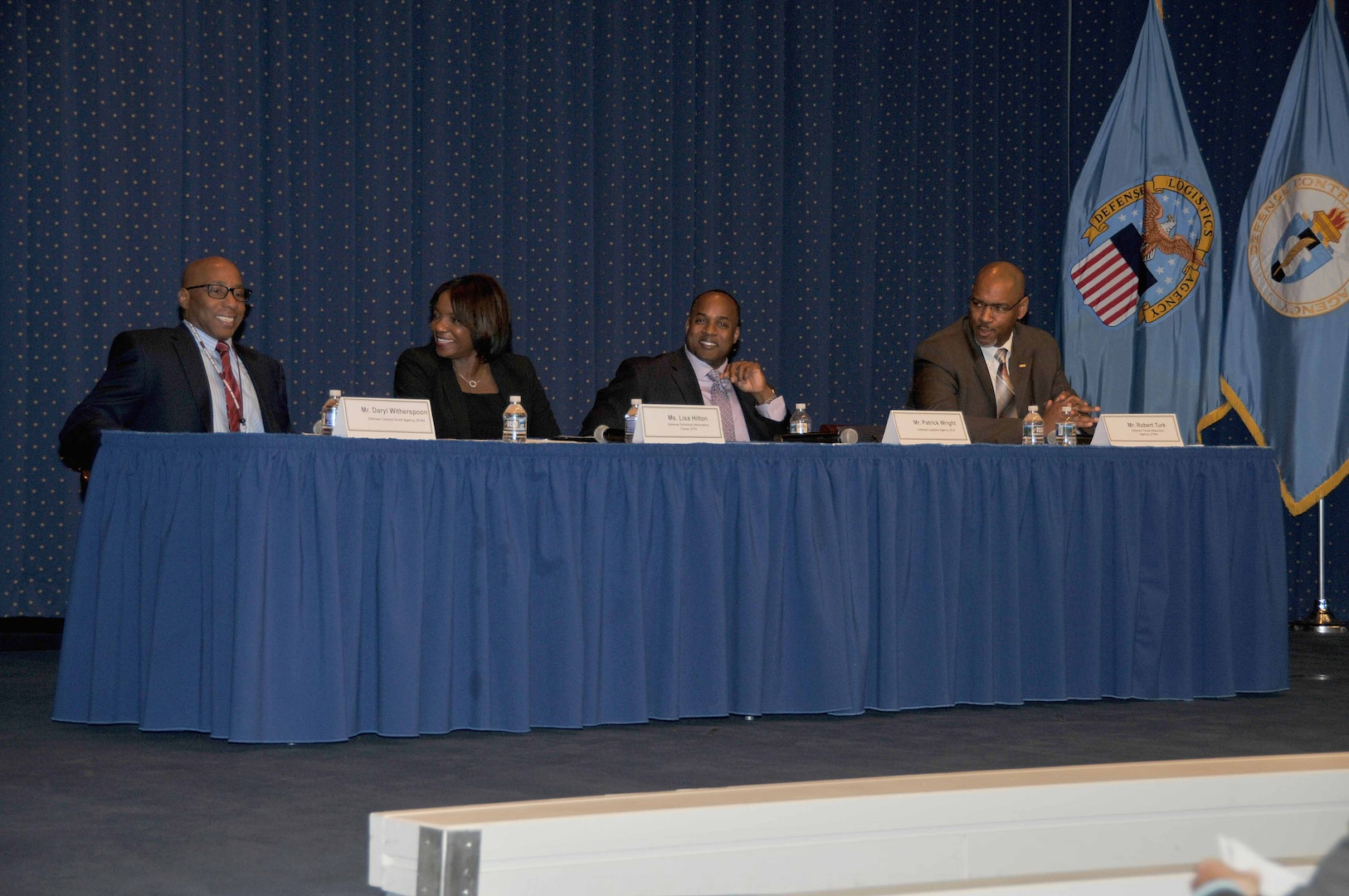 Left to right: Daryl Witherspoon, Lisa Hilton, Patrick Wright and Rob Turk prepare to share advice with the audience during the 2017 African American History observance.