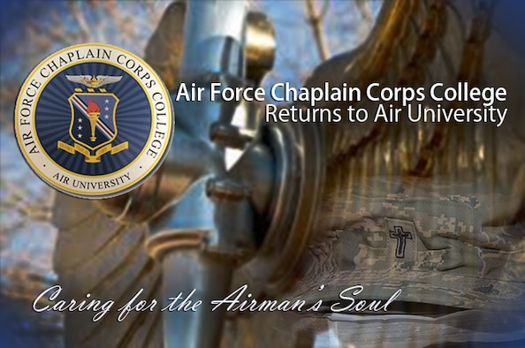 April 1, 2017, the Air Force Chaplain Corps College officially returned to Maxwell Air Force Base, Ala. The college teaches nine distinct professional continuing education courses and one technical training course numerous times a year. The courses range from three days to six weeks and approximately 400 students graduate from the college annually. (U.S. Air Force graphic by Senior Airman William Blankenship)
