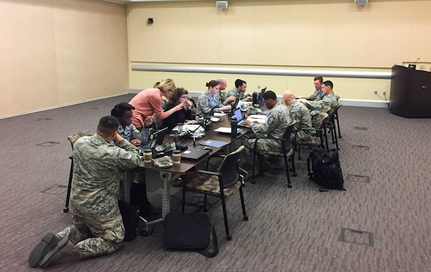 Airmen from Joint Base Andrews take part in a focus group as part of a study directed by the Air Force Chief of Staff, Gen. David L. Goldfein, on how to revitalize Air Force Squadrons Feb. 23, 2017. JB Andrews was chosen as the first base to participate in the three-phase project to meet the CSAFs number one focus area.