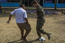 U.S. Marine Corps Capt. Sarah Lewis, with Combat Logistics