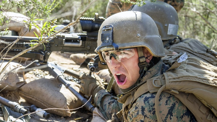 Marine Corps Pfc. Caleb Roberts participates in a live-fire field training exercise at Camp Pendleton, Calif., Feb. 23, 2017. Marine Corps photo by Lance Cpl. Brooke Woods