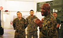Sergeant Maj. Ronald L. Green, 18th Sergeant Major of the Marine Corps, visits Marine Forces Central Command.