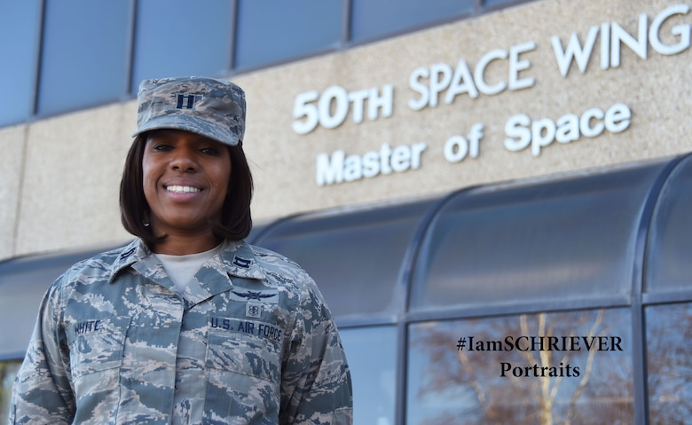 Capt. Nercresainne White, 3rd Space Experimentation Squadron Cyber Operations flight commander, has faced many hardships, lessons and great achievements in her life. White believes anyone can succeed as long as they have determination, courage and a support system. (U.S. Air Force photo/Senior Airman Arielle Vasquez)