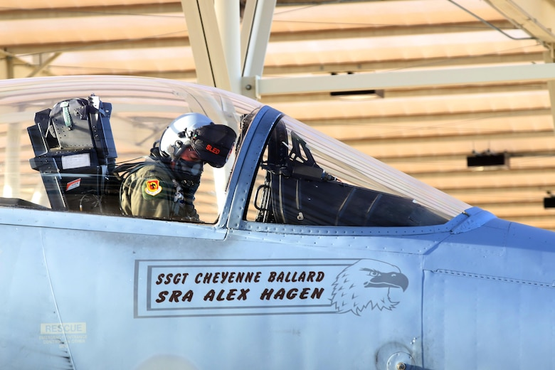 U.S. Air Force Colonel Jeff Smith, 173rd Fighter Wing Commander, preflights an F-15 Eagle in preperation for a training flight at Tucson, Arizona January 10, 2017.  The 173rd Fighter Wing spent two weeks training with the 162nd Wing, Airzona Air National Guard, flying dissimilar air combat training with their F-16s.  (U.S. Air National Guard photo by Master Sgt. Jennifer Shirar)