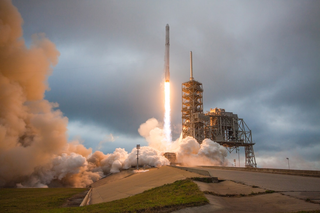 The Autonomous Flight Safety System first flew from the Eastern Range on SpaceX's Falcon 9 CRS-10 Feb. 19, 2017. The use of AFSS reduces range space lift costs through reductions in range equipment maintenance and upgrades. (Courtesy photo by SpaceX)