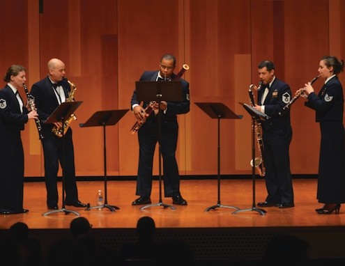 The United States Air Force Band's Chamber Players Series features unique programs, developed by members of the Band, that highlight their virtuosity and creativity. The Series draws vocalists and instrumentalists from every performing ensemble of the organization and includes both soloists and small ensembles.