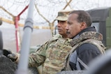 Gen. Vincent Brooks, United Nations Commander, Combined Forces Commander, and United States Forces Korea commander, conducts an interview with 60 Minutes along the Korean Demilitarized Zone, Feb. 8.