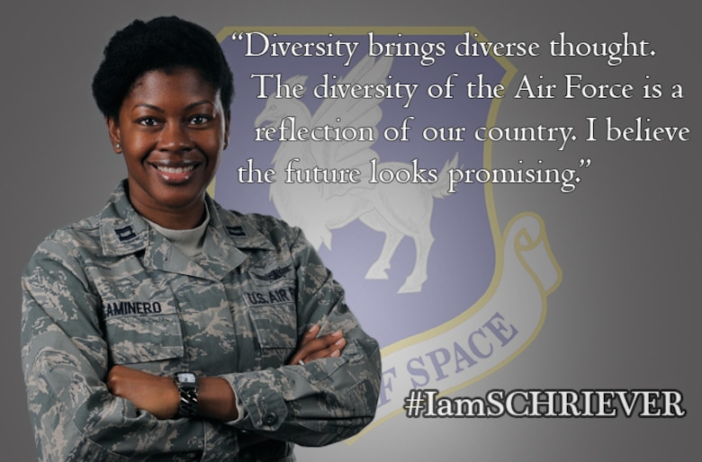 Capt. Charday Caminero was selected as the Air Force Space Command's nominee in the officer category for the Department of Defense's 2017 Black History Month web special. The special is designed to highlight notable DOD members, civilian, officer and enlisted, of African American heritage. Although she wasn't selected for the overall highlight, Caminero said she appreciates the DOD web special and other military initiatives, which help emphasize different cultures and people.