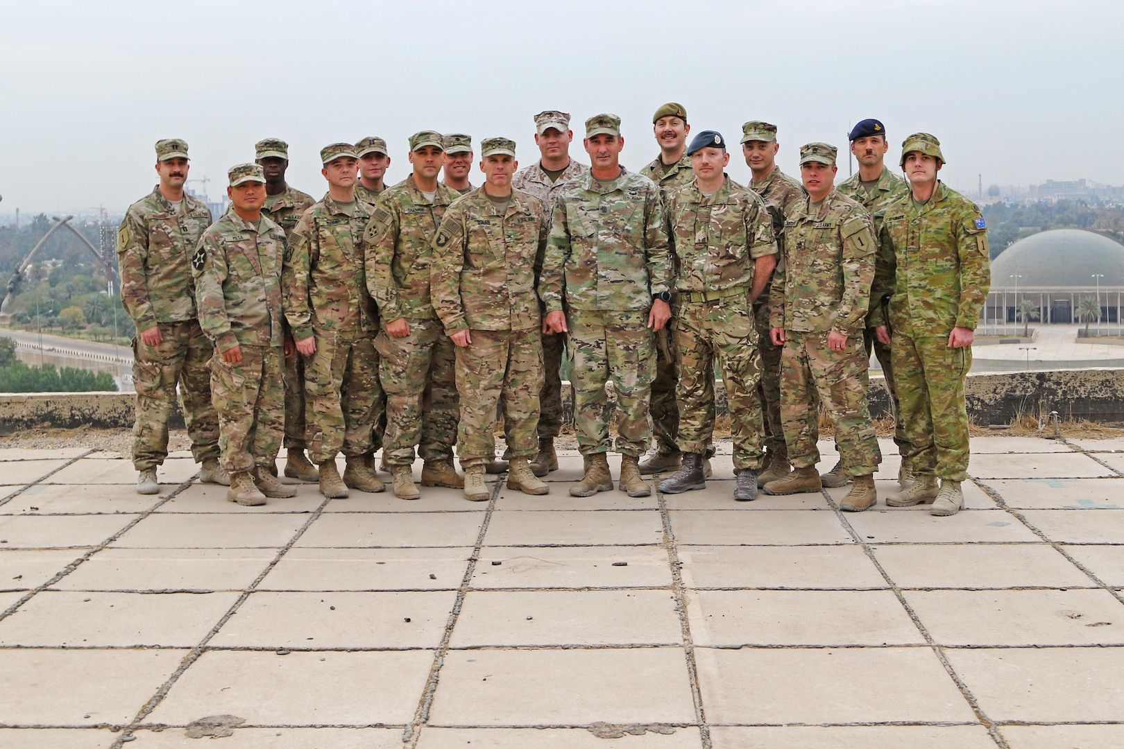 The Combined Joint Forces Land Component Command's Fires Team in Baghdad, Iraq on 30 Nov, 2016. The team works constantly to degrade ISIL across Iraq through lethal targeting to support the ISF maneuver plan through strikes. (Photo Credit: U.S. Army Sgt. Anna Pongo)