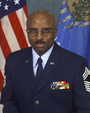 Official portrait of Chief Master Sgt. Clifford McFadden