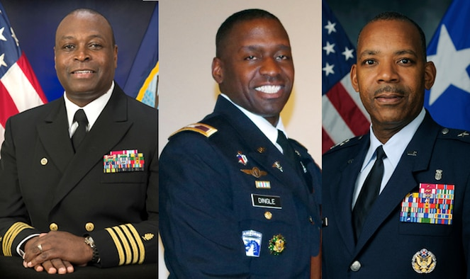 Navy Capt. Marvin Jones, Army Brig. Gen. Scott Dingle and Air Force Maj. Gen. Roosevelt Allen discuss the importance of mentors in their lives and careers.