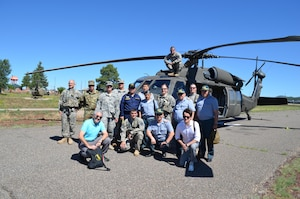 Arizona Army National Guard Soldiers from Arizona Training Center, A Company 2-285 Assault Helicopter Battalion, and officers and interpreters from the Kazakhstan Ministry of Defense visit training facilities and ranges at Camp Navajo Ariz., July 10. The Arizona Army National Guard hosted the Kazakhstan military members during a week-long State Partnership Program sponsored trip to the United States.
