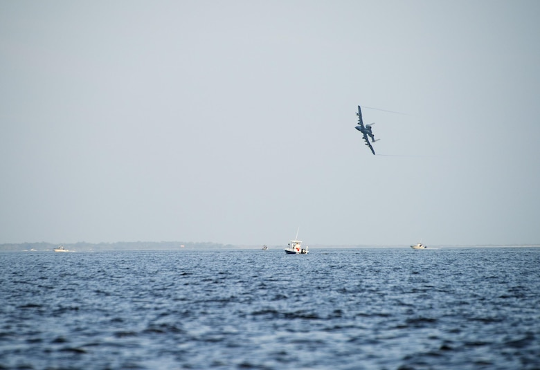 An A-10 Thunderbolt IIs with the 74th Fighter Squadron from Moody Air Force Base, Ga., flies over the Gulf of Mexico Feb. 7 during Combat Hammer.   The 86th Fighter Weapons Squadron's Combat Hammer is a weapons system evaluation program at Eglin Air Force Base, Fla. (U.S. Air Force photo/Ilka Cole)