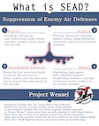 Info graphic describing the suppression of enemy air defenses.