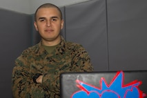 While not in the field or completing his mission as platoon sergeant, Sgt. Ludwin Portillo, also known as DJ Boom, spends his free time performing and disk jockeying events. (U.S. Marine Corps photo by Cpl. Connor Hancock)