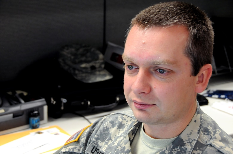 Staff Sgt. Alex Ushomirsky is a paralegal working in casualty operations for the U.S. Army Reserve's 99th Regional Support Command at Joint Base McGuire-Dix-Lakehurst, New Jersey.  Ushomirsky came to the United States in 1997 and has served in the Army Reserve for the last 14 years.  Casualty Operations personnel support the casualty mission by providing casualty notification and assistance, casualty escort, retrieval and return of personal effects, and appropriate reporting to the Department of the Army.  The 99th provides support throughout its 13-state region.