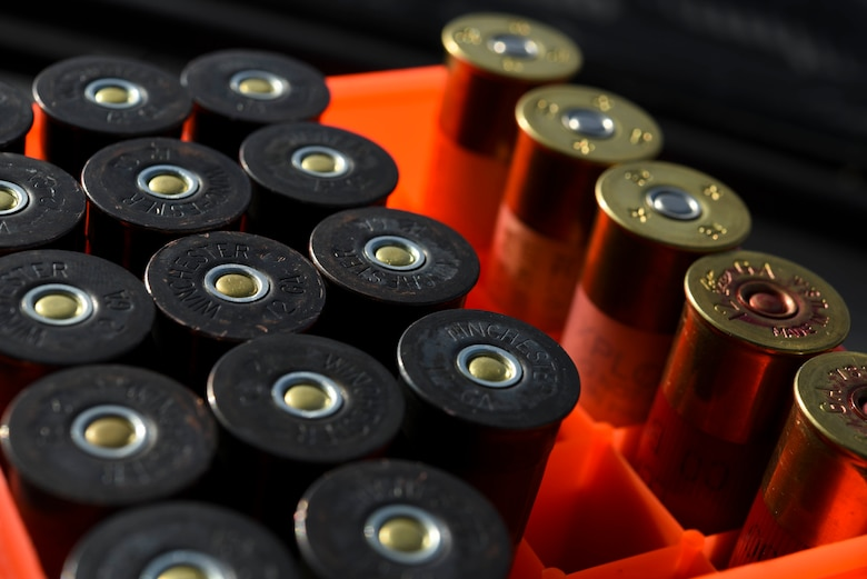 Shotgun ammunition sits inside a car parked on the flightline at Kunsan Air Base, Republic of Korea, Jan. 3, 2017. The ammo is used in the Bird/wildlife Aircraft Striking Hazard program, which is designed to deter wildlife that could cause significant damage to aircraft. Members of the program use a variety of tools from noise cannons and predator calls to shotguns. (U.S. Air Force photo by Senior Airman Michael Hunsaker)