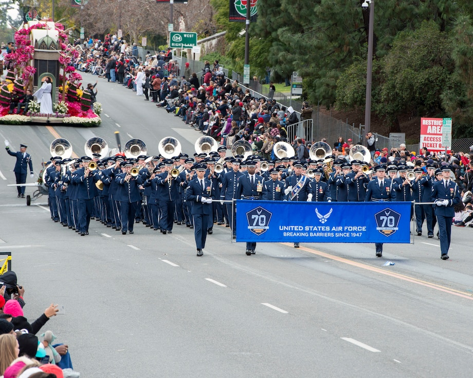 USAF Total Force Band  Plays in 128th Rose Parade