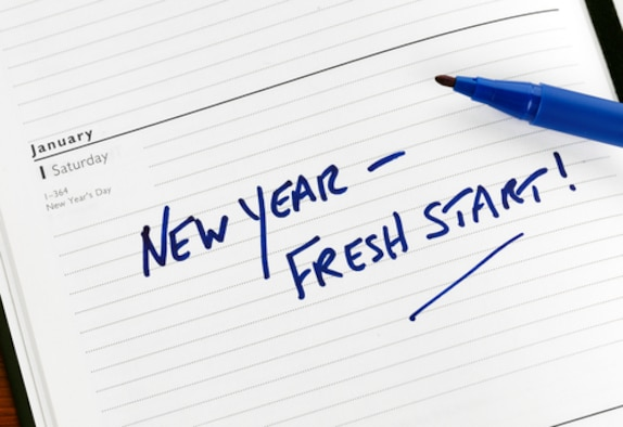 About 45 percent of Americans will make a New Year's resolution to lose weight, get fit, stop smoking, etc.