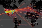 This heat map of human trafficking activity across the world is one of the tools that is part of DARPA's Memex program, designed to help law enforcement officers and others do investigations online and hunt down human traffickers. DARPA graphic