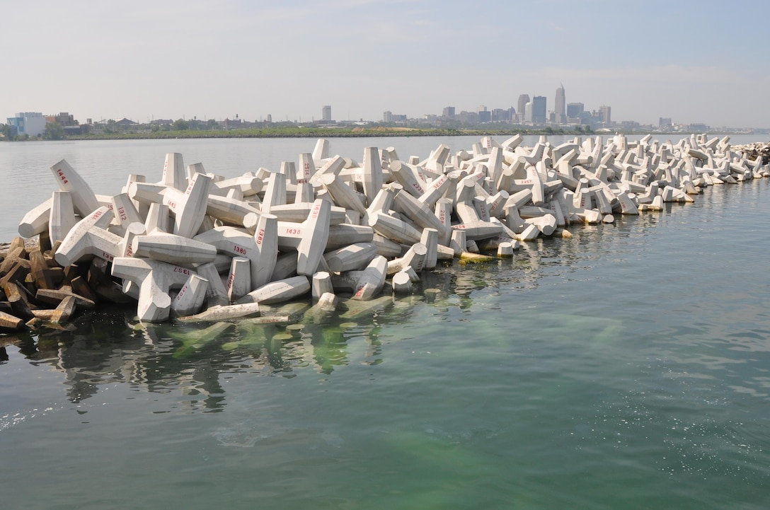 The U.S. Army Corps of Engineers completed repairs to the Cleveland Harbor East breakwater which was damaged by Hurricane Sandy. The project was one of nine structures scheduled for repair under supplemental Superstorm Sandy funds provided by Congress.