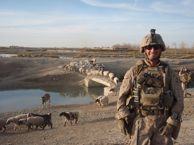 Master Sgt. Clifford Farmer, shown here during a 2010 deployment to Afghanistan, has four combat tours under his belt and years of experience as an explosive ordnance disposal technician. Today, he battles post-traumatic stress disorder and depression, and urges leaders across the Marine Corps to show understanding and compassion for Marines who may be suffering. (Courtesy photo)