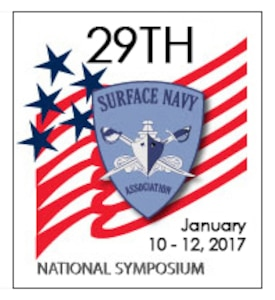 Official graphic of the 29th Surface Navy Association, Jan. 10-12, 2017, in Alexandra, Virginia.