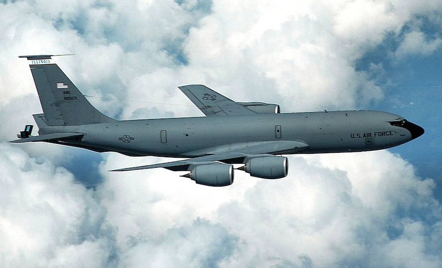KC-135R, 2009-present: The 906th Air Refueling Squadron moved from the 319th Operations Group, Grand Forks AFB, N.D., to the 375th Operations Group, Scott AFB. The 906th became an active associate unit flying the KC-135R Stratotanker aircraft of the 126th Air Refueling Wing, Illinois Air National Guard.