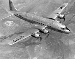C-118 Liftmaster, 1966-69: The C-118 Liftmaster aircraft brought the first aeromedical evacuation patients from Vietnam to Scott AFB. The evacuees stopped overnight at Scott, en-route to other medical facilities.