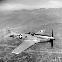 P-51 Mustang, 1952-53: The new fighter incorporated many of the latest developments in aeronautics, notably the laminar flow wing that was relatively symmetrical and offered less drag at high speed. While the Korean War is thought of as a jet war, the Mustang played a key role in ground attack. P-51s flew over 60,000 missions in the Korean War, and were credited with destroying 12 enemy aircraft.
