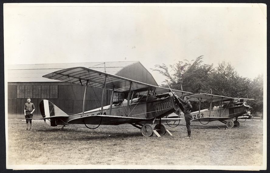 JN-4H Jenny, 1918-21: Earl Hoag (officer-in-charge of flying) and A. J. Etheridge (post engineer), along with 2nd Lt. Seth Thomas, designed two air ambulances, or hospital ships, by modifying Jenny aircraft to carry patients. On Aug. 24, 1918, Scott's air ambulance transported its first patient.