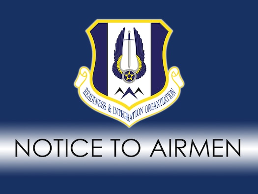 HQ RIO Notice to Individual Reserve Airmen