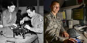 The communications training era began in Sept. 1940 with the opening of the Radio School, which trained over 150,000 Airmen. By 1959, the remaining courses were either phased out or relocated. Currently, the 375th Communications Group supports the mission of the 375th Air Mobility Wing in its global reach mission by providing command, control, communications and computer support to the Department of Defense.